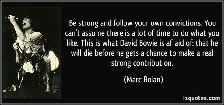marc bolan quote about david bowie