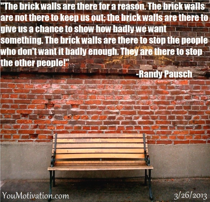 randy pausch brick walls quote