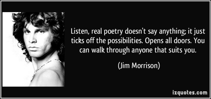 jim morrison poetry quote