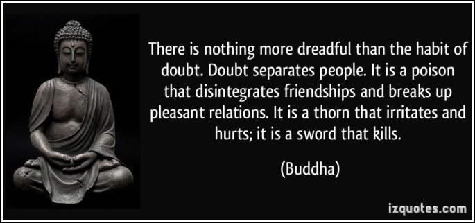 Buddha doubt quote