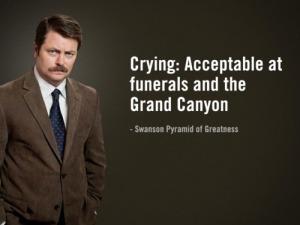 swanson on crying