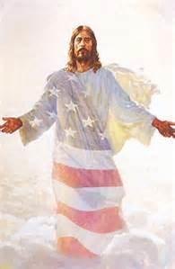 jesus american flag
