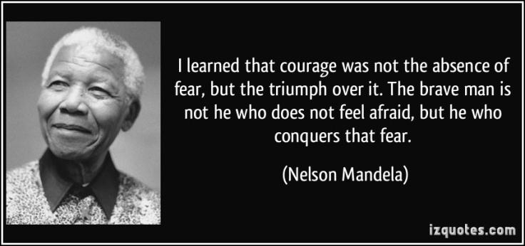 Nelson Mandela fear quote