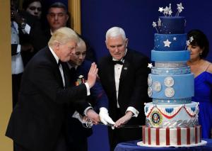 Yes, now even President Trump's cake is controversial. Left wing lunacy knows no bounds!