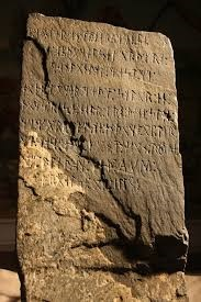 This is the aforementioned Kensington Runestone. I realize that 99.999% of the world is not nearly as nerdy as I am about history, so I thought I should provide some reference. In case you're interested in learning more about it, check out this stie: http://www.thekensingtonrunestone.com/