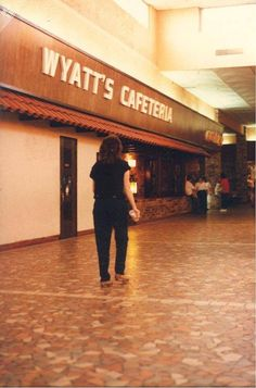 Wyatt's Cafeterias were almost always in malls like this one. Circa 1980.