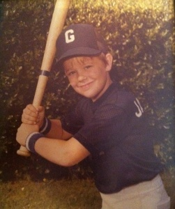 Circa 1981, my portrait at the beginning of the Irving, TX YMCA City League baseball season. My team: the Giants. Our record: 11 wins, 1 loss, City Champions. Look at that stance. Look at that steely glare. Look at those wristbands! Wasn't I a handsome devil?!